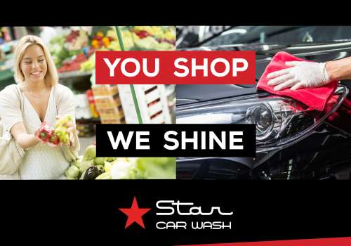 You Shop and Let Star Car Wash Shine Your Car!